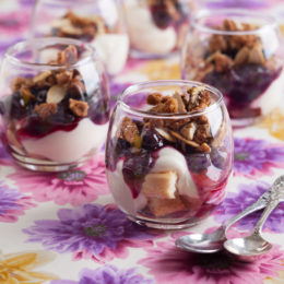 BLUEBERRY CHEESECAKE TRIFLES