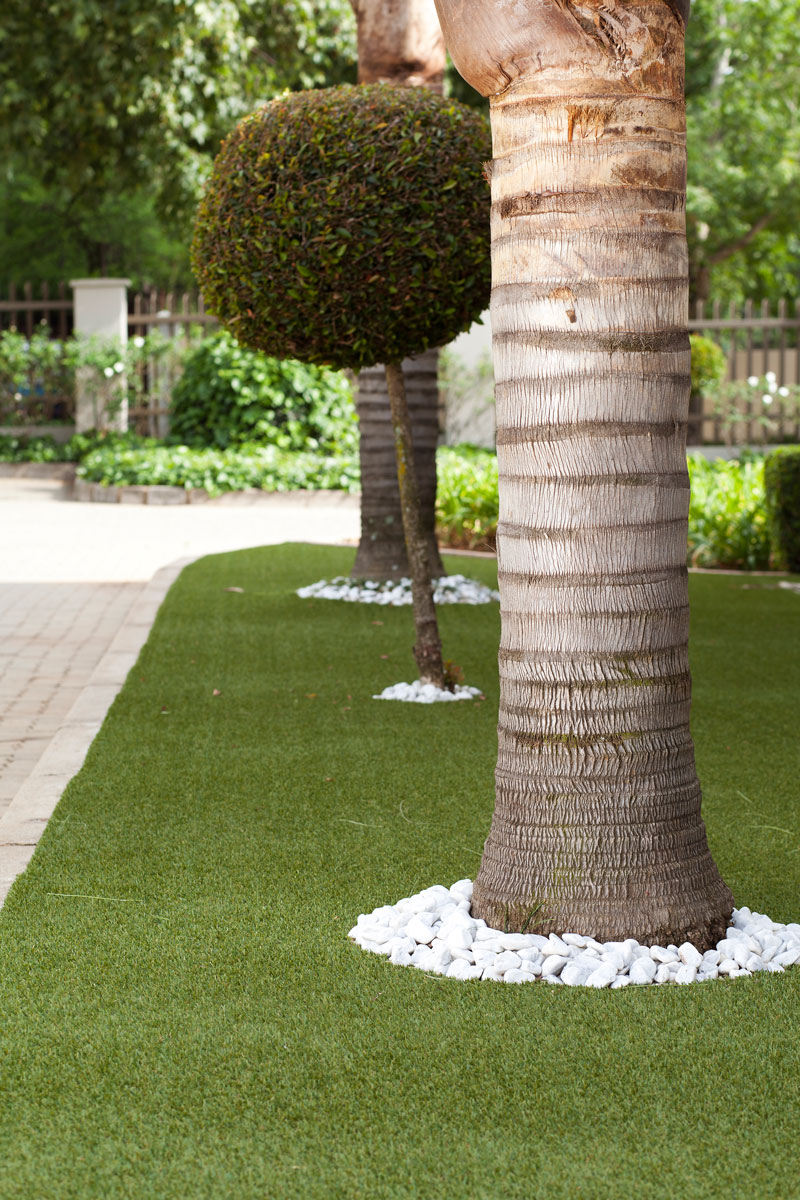 Under trees - artificial grass - SA Garden and Home