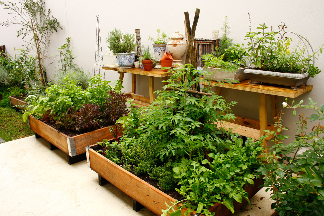Position your boxes - growing veggies in containers