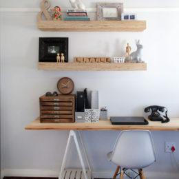 Floating shelves: Less is more