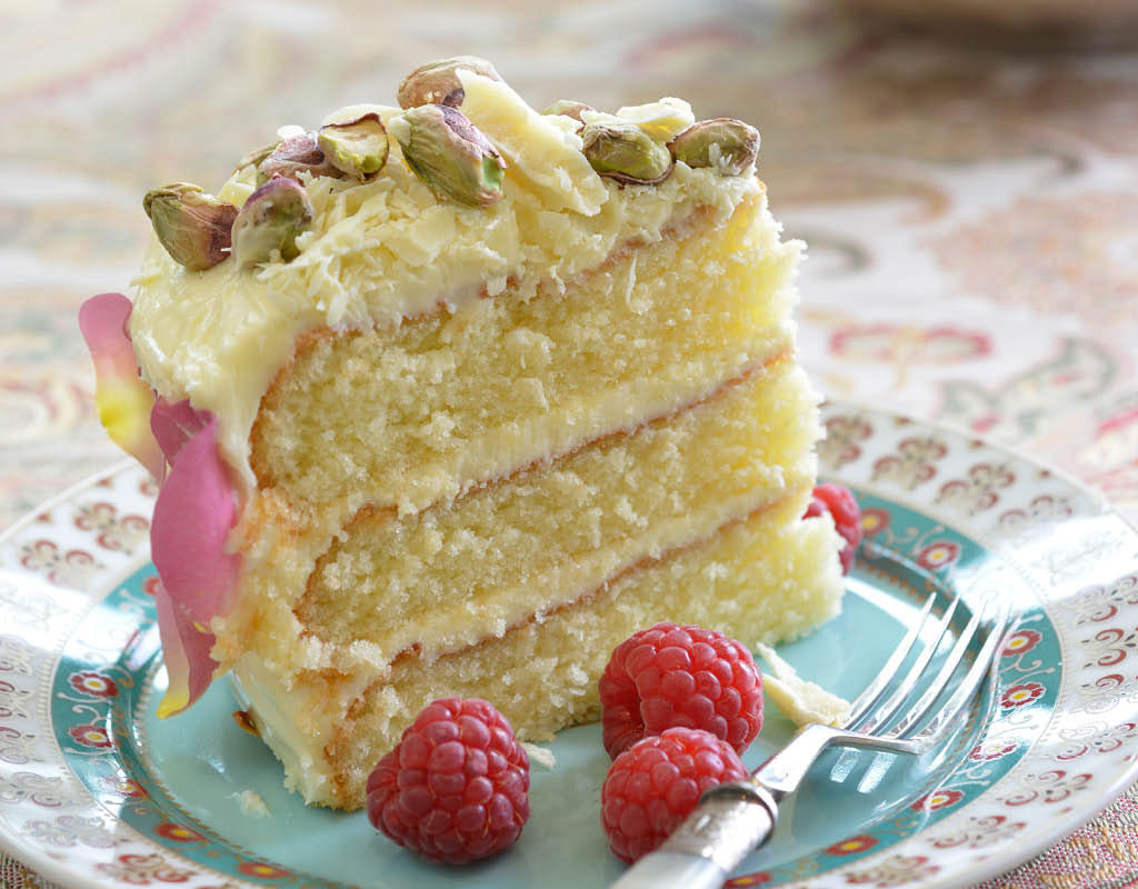 Cardamom White Chocolate And Almond Cake