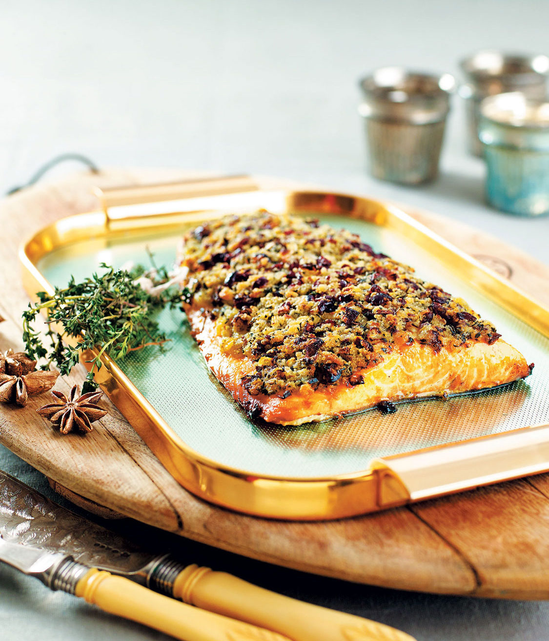 SALMON WITH A CRANBERRY AND THYME CRUST | SA Garden and Home