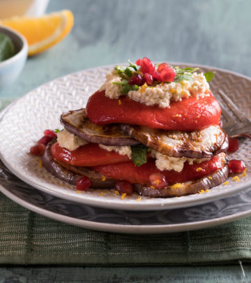 BRINJAL AND RICOTTA STACK