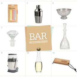 Bar accessory shopping