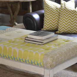 Transform an old coffee table into an ottoman