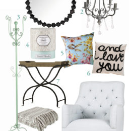 Shopping for romantic decor accessories and furniture