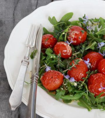 ROASTED CHERRY TOMATO AND ROCKET SALAD