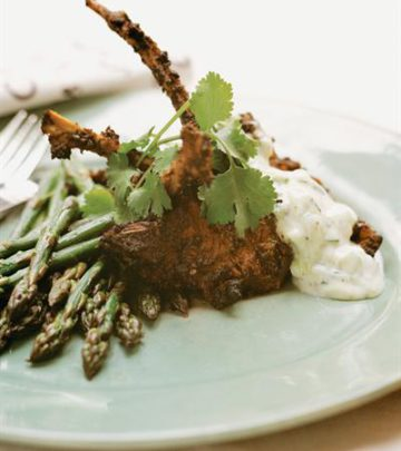 CHERMOULA LAMB CUTLETS WITH TZATZIKI DRESSING