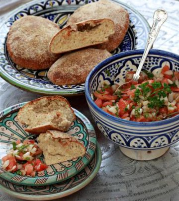 RUSTIC BREAD WITH MOROCCAN SALAD