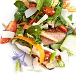 GRILLED DUCK SALAD WITH PALM SUGAR DRESSING