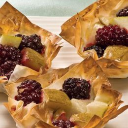 PEAR AND BLACKBERRY TARTLETS