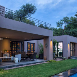 A house plan for a modern makeover of a Sandton duplex