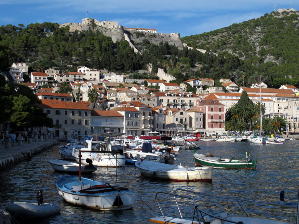 Hvar harbour - exploring croatia