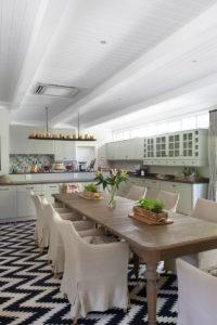 furnished kitchen with island