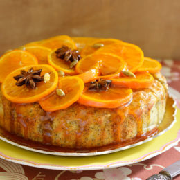 ORANGE AND POPPY SEED POLENTA CAKE