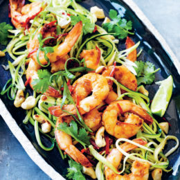 PRAWN AND COURGETTE NOODLES