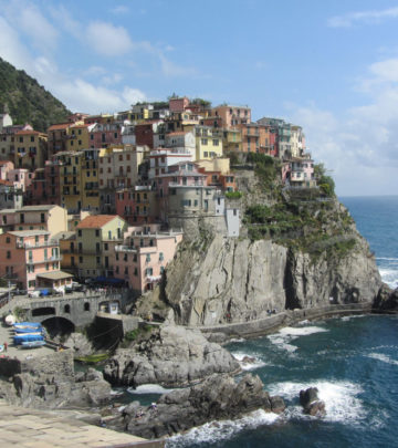 View of the promontory from above Manarola.