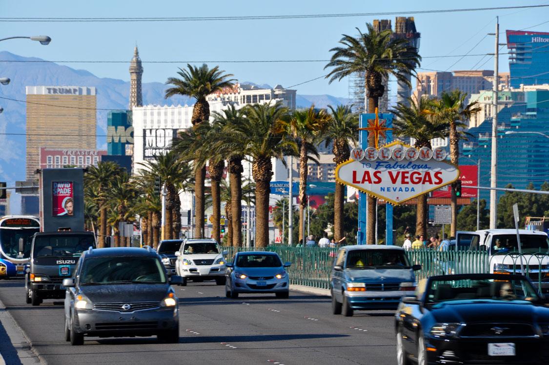 Busy, bustling Las Vegas Boulevard South.