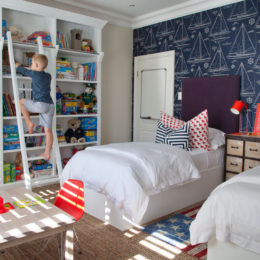 Kid's bedroom idea: add clever storage space
