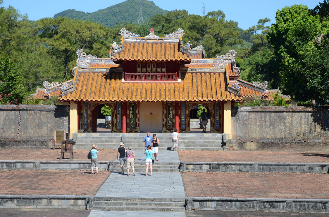 THE TOMB OF EMPEROR MINH MANG (1841) OUTSIDE HUE.