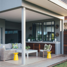 A contemporary patio design