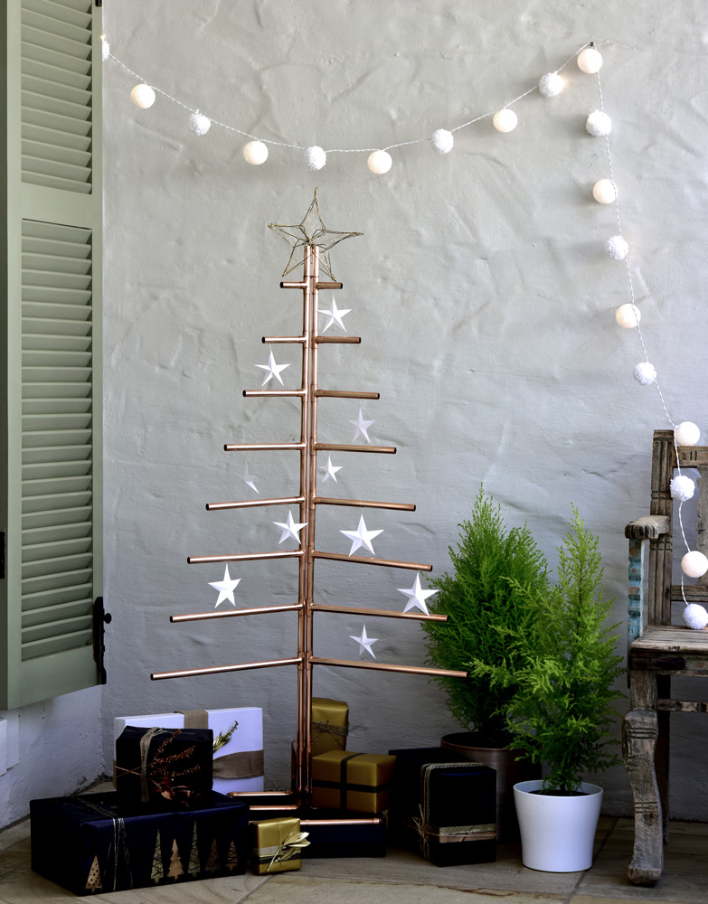 Christmas tree from copper piping - sa garden and home