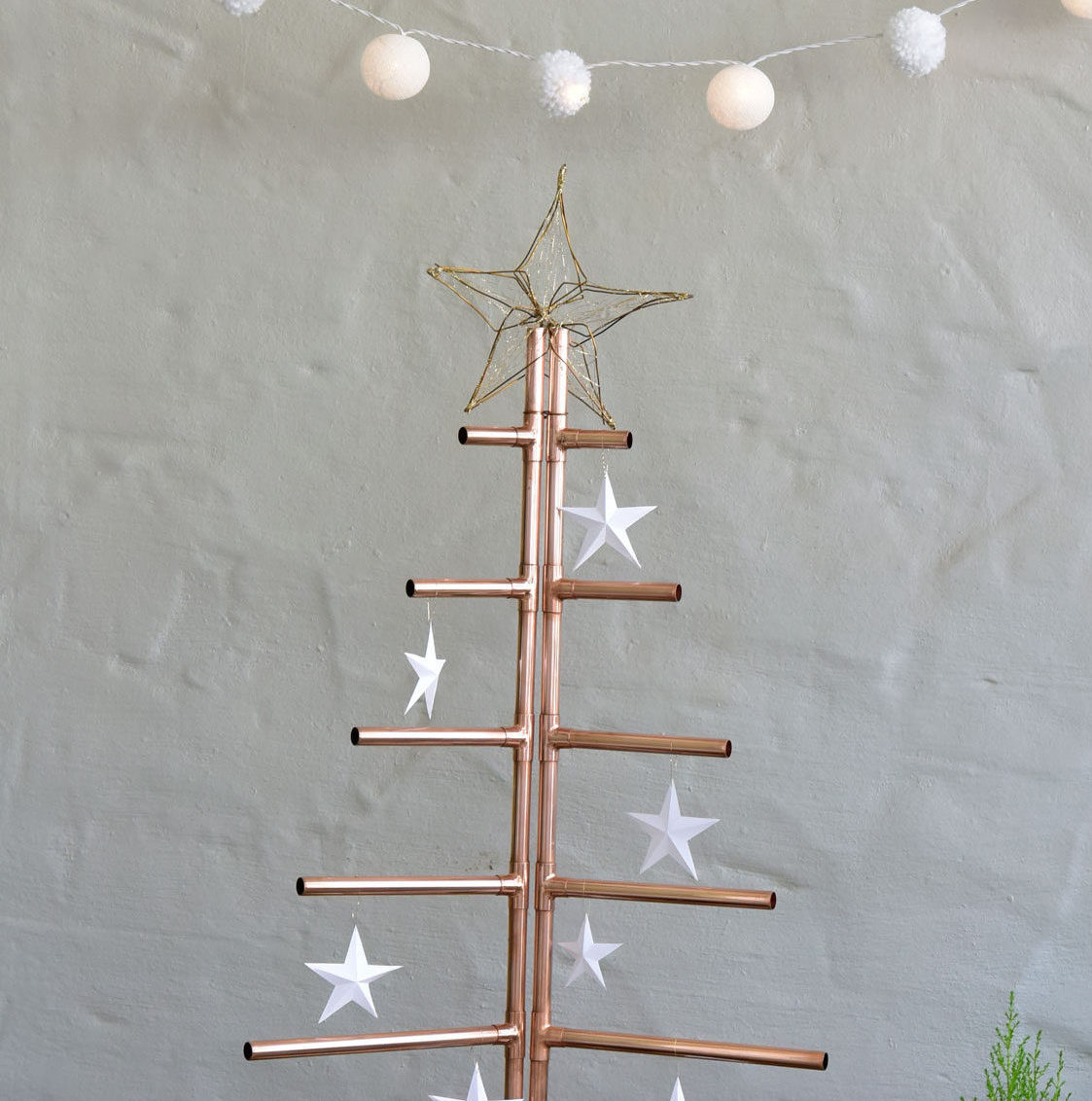 Make a Christmas tree from copper piping SA Garden and Home : DEChandmade04gh e1479727338443 from www.gardenandhome.co.za size 1123 x 1132 jpeg 164kB