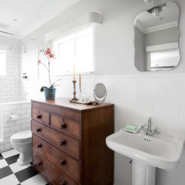 An elegant bathroom makeover