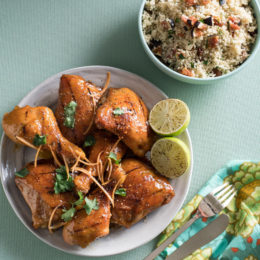 SOY-GLAZED CHICKEN WITH FRUITY COUSCOUS