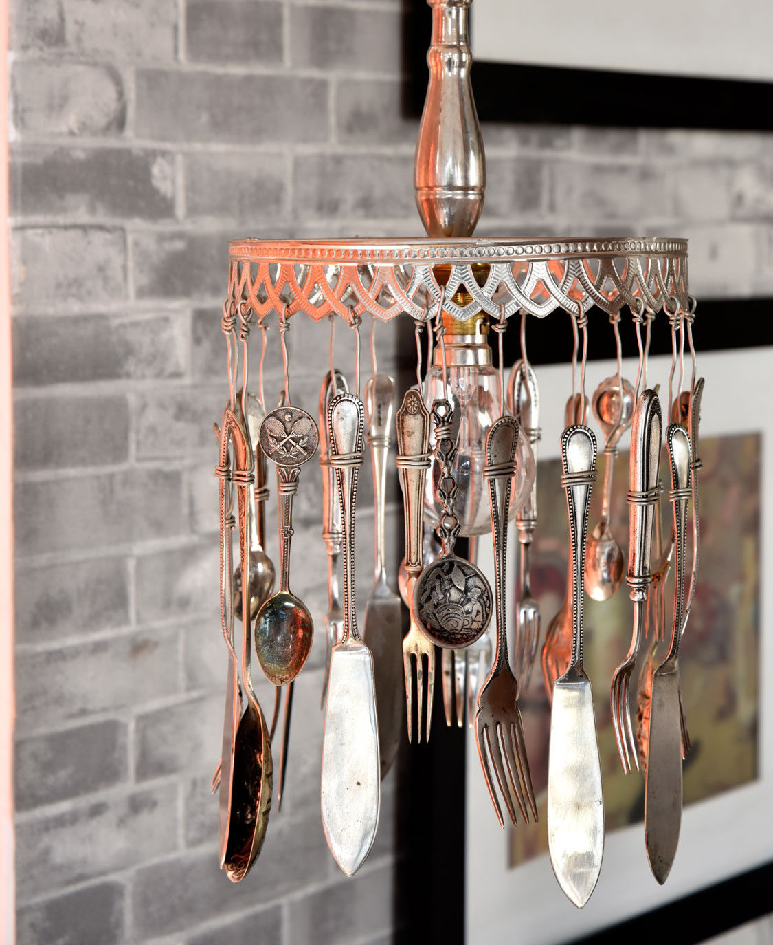 DIY Home Decor Make A Pendant Light From Old Cutlery
