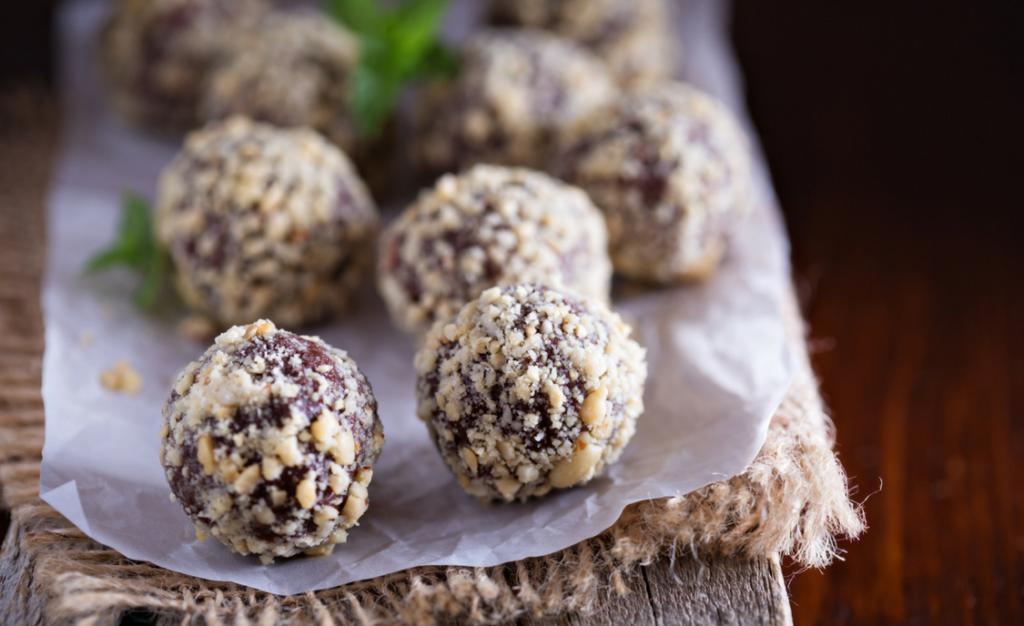Peanut butter chocolate truffles