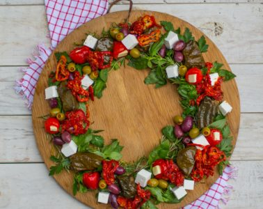 edible christmas wreath