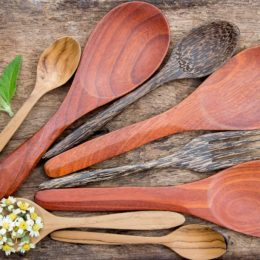 wooden cutlery - go plastic free - plastic free july