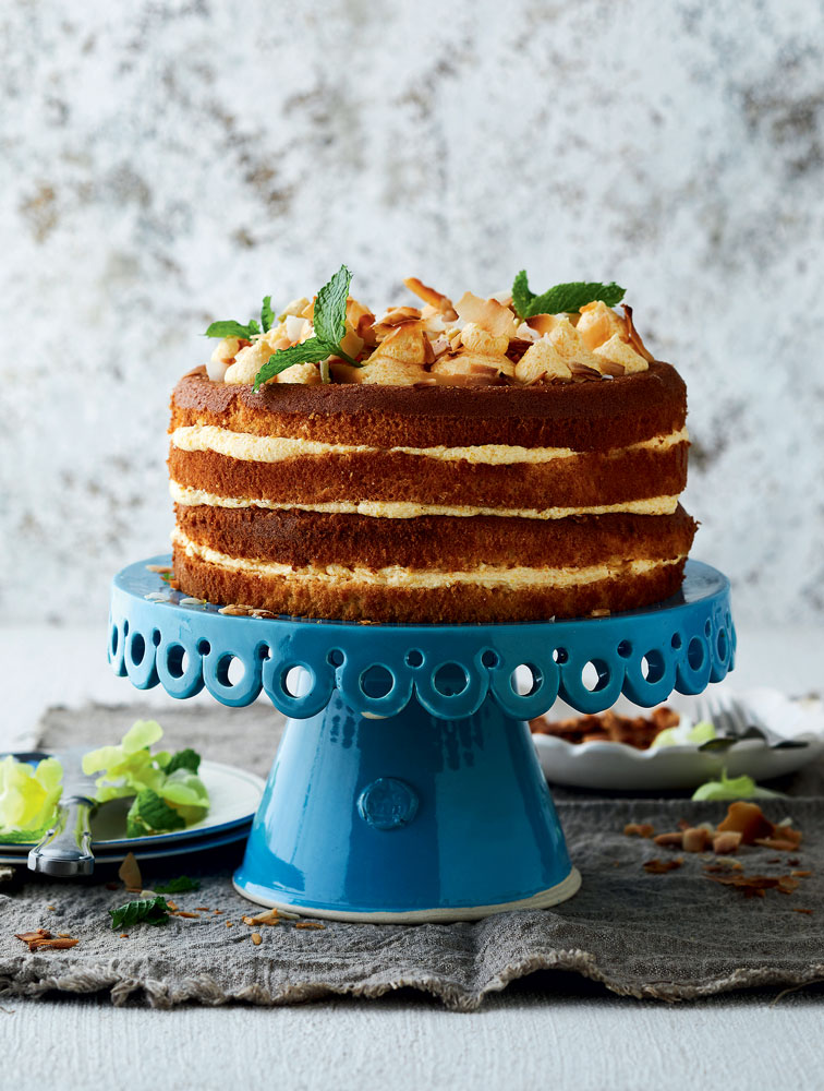 VANILLA CHIFFON AND CUSTARD CAKE