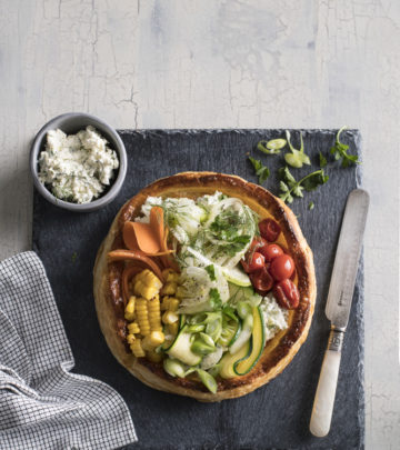 VEGETABLE AND RICOTTA FREE-FORM TART
