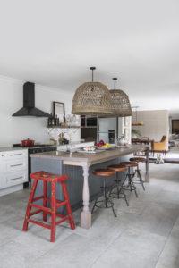 red, black, white kitchen -- practical kitchen makeover -- Garden and Home
